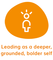 Leading as a deeper, grounded, bolder self